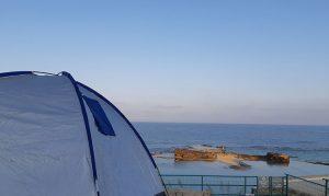 חניון לילה קמפינג חוף אכזיב, חוף לקפמינג, חופים לקמפינג