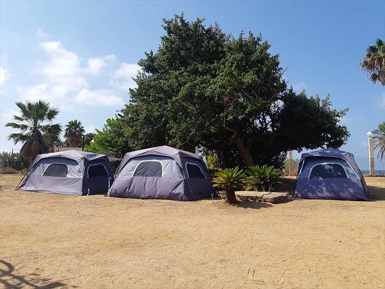 קמפינג השכרת אוהלים אכזיב
