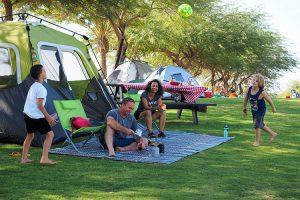 קמפינג משפחתי בחניון הבשור - פארק אשכול