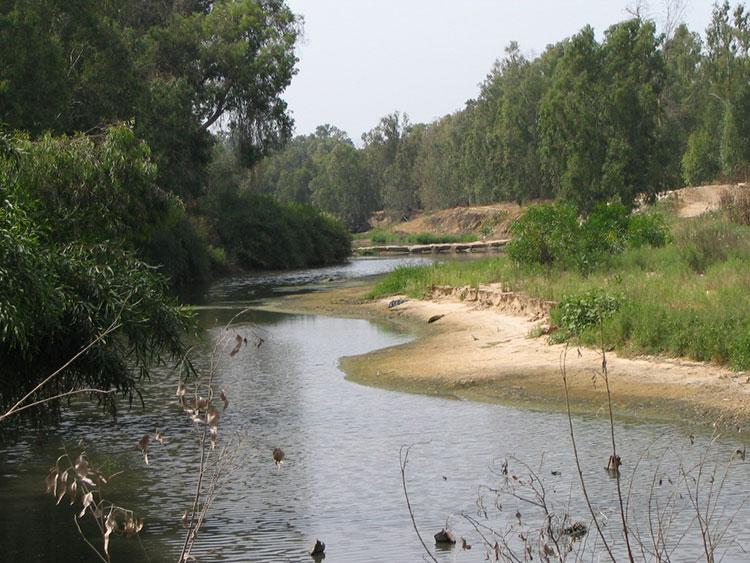 מסלול טיול בנחל שורק ליד חוף פלמחים