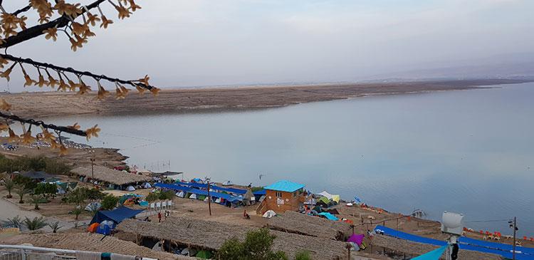 קמפינג על החוף בים המלח, חניון קרוואנים בים המלח