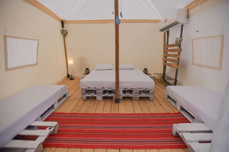 אוהלים ממוזגים באילת, אוהל עם מזגן באילת