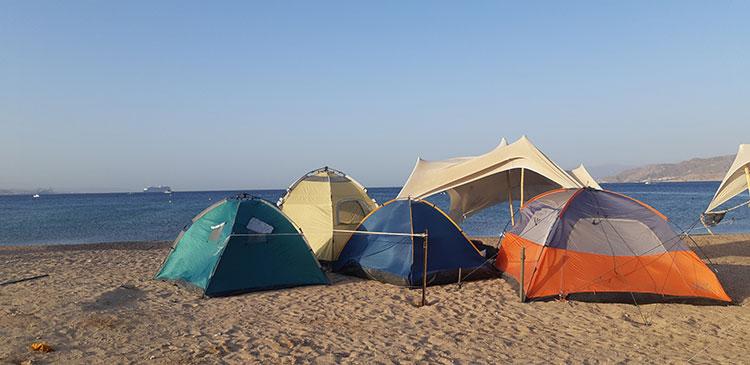 קמפינג החוף הצפוני באילת