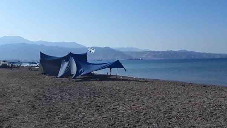 חניון קמפינג חוף צפוני אילת, אתרי קמפינג באית
