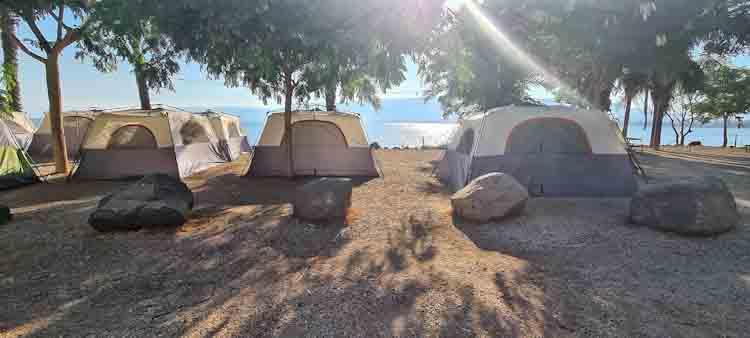 השכרת אוהלים בכנרת, חוף ירדן כנרת, קמפינג בכנרת