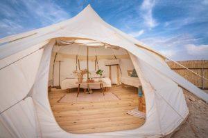 גלמפינג חוות האלפקות, גלאמפינג חוות האלפקות, אוהלים ממוזגים במכתש רמון