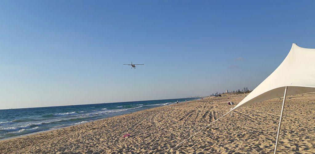 קמפינג חוף ניצנים, אוהלים חוף ניצנים, אוהל מול הים